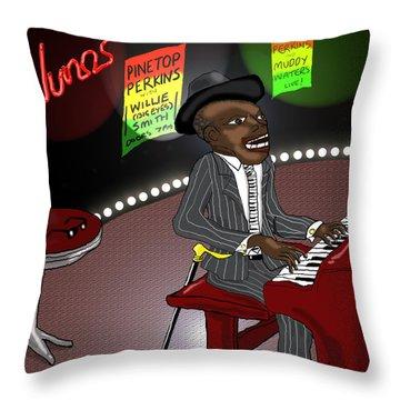 Pinetop Perkins Throw Pillow