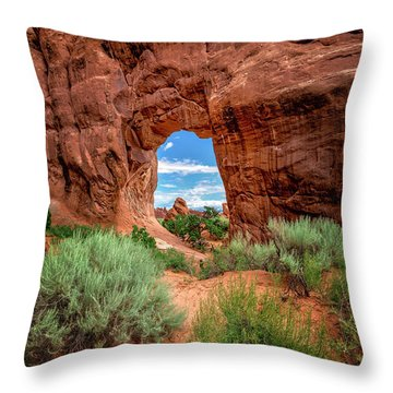 Pinetree Arch Throw Pillow