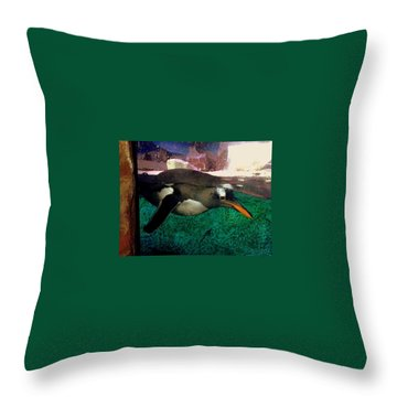 Pinguin At Denmark Throw Pillow