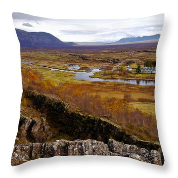 Pingvellir National Park Iceland Throw Pillow