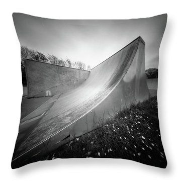 Throw Pillow featuring the photograph Pinhole Ramp by Will Gudgeon