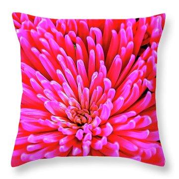 Pink 137 Throw Pillow