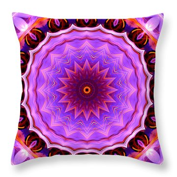 Pink 16-petals Kaleidoscope Throw Pillow