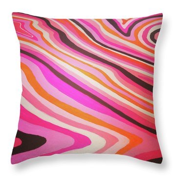 Pink Alleys  Throw Pillow by Margalit Romano