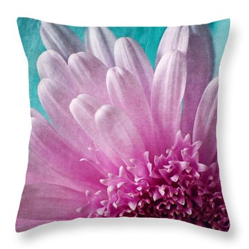 Pink And Aqua Throw Pillow by Dale Kincaid