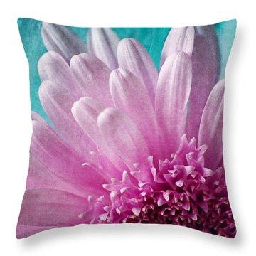 Pink And Aqua Throw Pillow