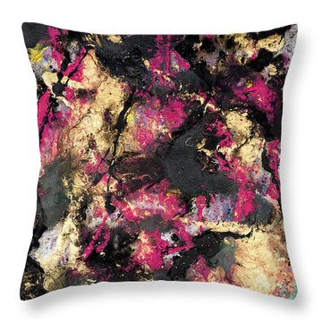 Pink And Gold Merge Throw Pillow