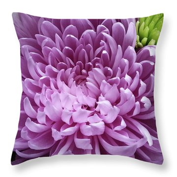 Pink And Green Defined Throw Pillow