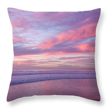 Pink And Lavender Sunset Throw Pillow