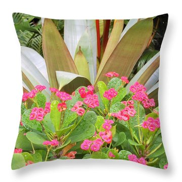 Throw Pillow featuring the photograph Pink And Spiky by Kay Gilley