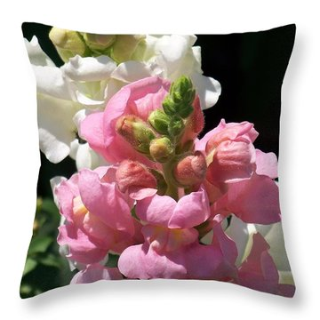 Throw Pillow featuring the photograph Sweet Peas by Eunice Miller