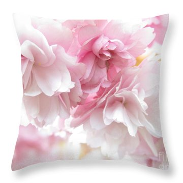 Pink April Throw Pillow by Kim Tran