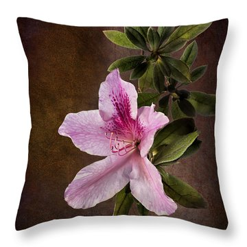 Throw Pillow featuring the photograph Pink Azalea by Endre Balogh