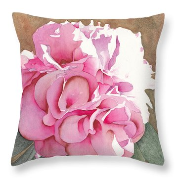 Pink Azalea Throw Pillow