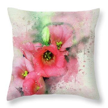Pink Babies-2-sig.jpg Throw Pillow