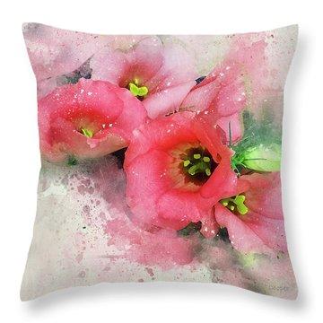 Pink Babies A Throw Pillow