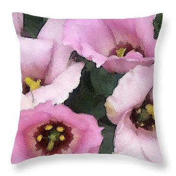 Pink Babies Throw Pillow