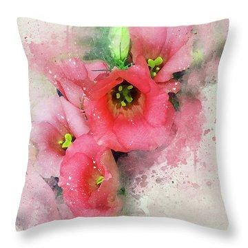 Pink Babies.jpg Throw Pillow