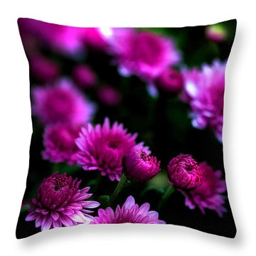 Pink Beauty Throw Pillow by Cherie Duran