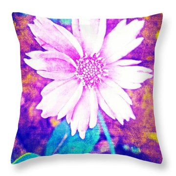 Pink Bloom Throw Pillow by Rachel Hannah