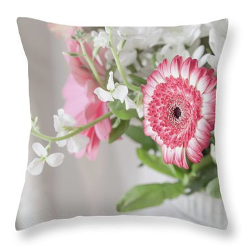 Throw Pillow featuring the photograph Pink Blooms Love by Kim Hojnacki