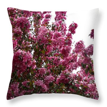 Pink Blossom 2 Throw Pillow