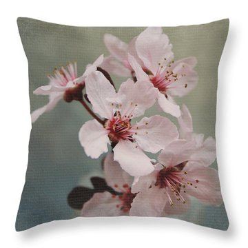Pink Blossoms 2- Art By Linda Woods Throw Pillow