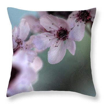 Throw Pillow featuring the photograph Pink Blossoms by Jim and Emily Bush