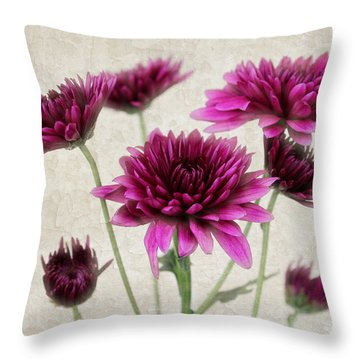 Pink Bouquet Throw Pillow by Judy Vincent