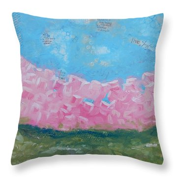 Pink Boxwoods Throw Pillow by Sue Furrow