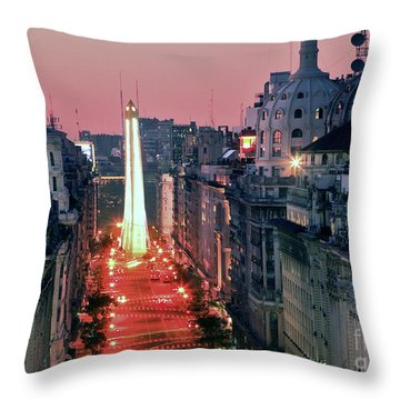 Throw Pillow featuring the photograph Pink Buenos Aires  by Bernardo Galmarini