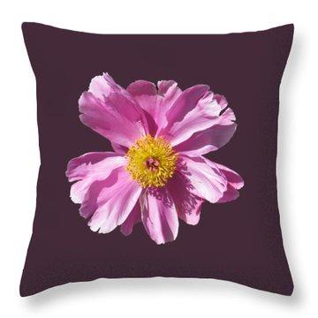 Pink Burst Throw Pillow
