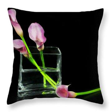 Pink Callas Throw Pillow