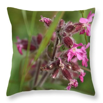 Pink Campion In August Throw Pillow