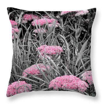 Pink Carved Cowslip Throw Pillow