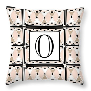 Pink Champagne Deco Monogram  O Throw Pillow