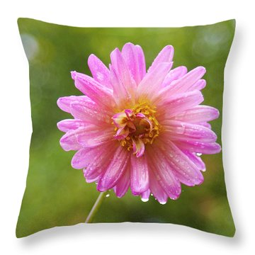 Pink Dahlia 2 Throw Pillow