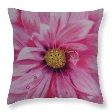 Pink Dahlia I Throw Pillow