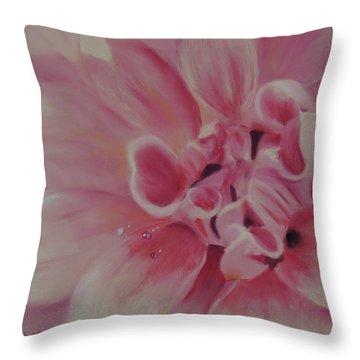 Pink Dahlia II Throw Pillow