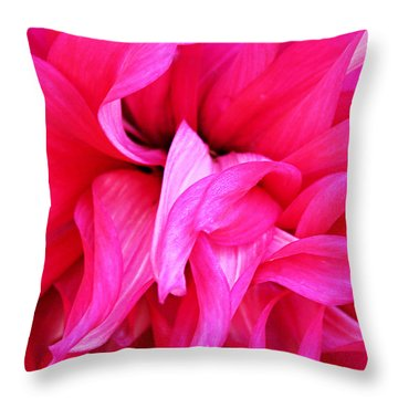 Throw Pillow featuring the photograph Pink Dahlia by Kristin Elmquist