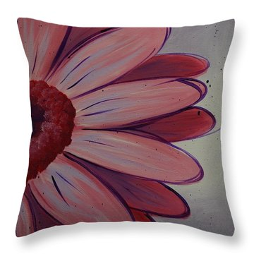 Pink Daisy Throw Pillow