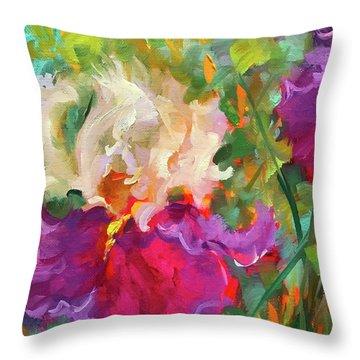 Pink Dancer Iris Throw Pillow