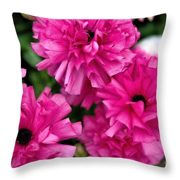 Throw Pillow featuring the photograph Pink by Diana Mary Sharpton