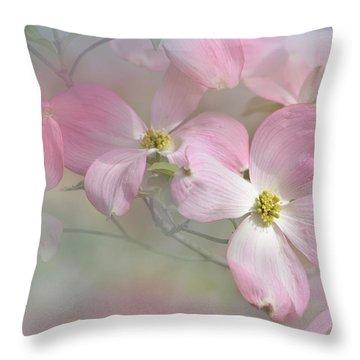 Pink Dogwood 02 Throw Pillow by Ann Bridges