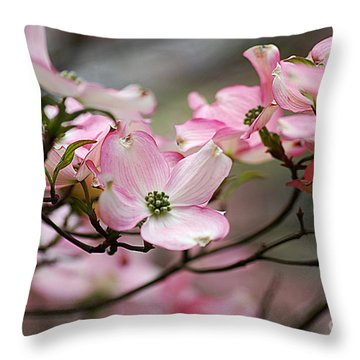 Pink Dogwood 20120415_68a Throw Pillow by Tina Hopkins