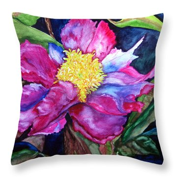 Throw Pillow featuring the painting Pink Drama by Lil Taylor