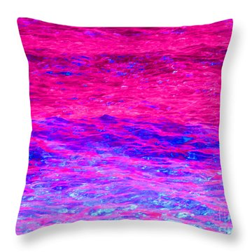Pink Fantasy Waters Abstract Throw Pillow