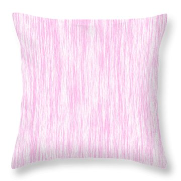 Pink Fiber Throw Pillow