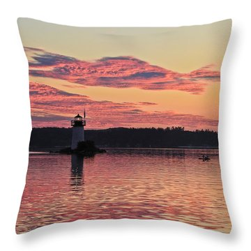 Pink Fire Throw Pillow