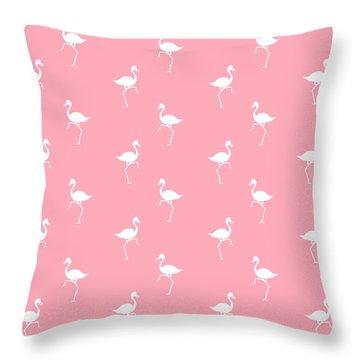 Pink Flamingos Pattern Throw Pillow